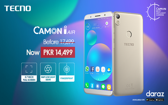 TECNO Partners With Daraz To Offer An Amazing Discount On Camon i Air