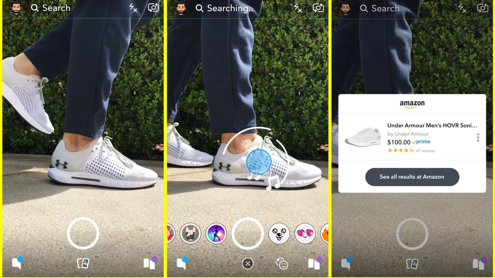 Snapchat has not confirmed it yet, but it seems that visual search camera feature will be introduced for both Android and iOS platforms.