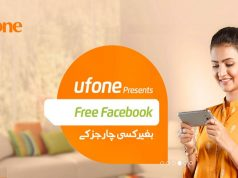 ufone offers free facebook
