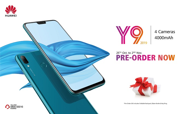 Huawei Drops the Ultimate Mid-range Smartphone HUAWEI Y9 2019 in Pakistan