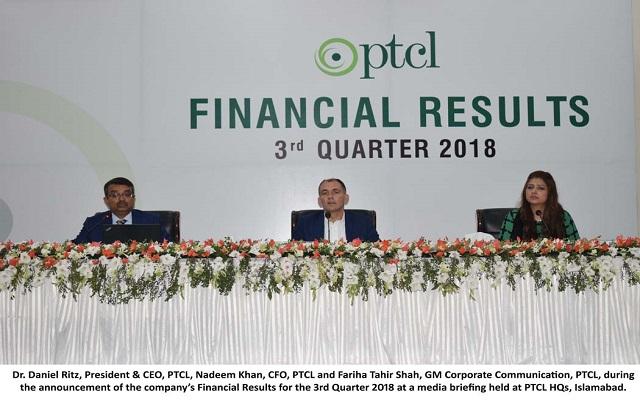 PTCL Announces Q3 Financial Results