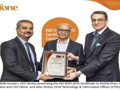 Pakistani Telecom Company achieves ISO 9001:2015 by Bureau Veritas (BV)