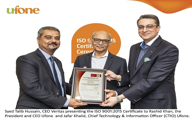 Pakistani Telecom Company achieves ISO 9001:2015 by Bureau Veritas (BV)