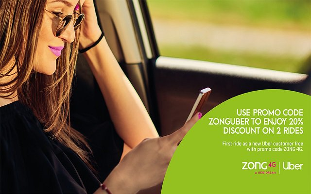 Uber Free Rides & Discounts for Zong Users