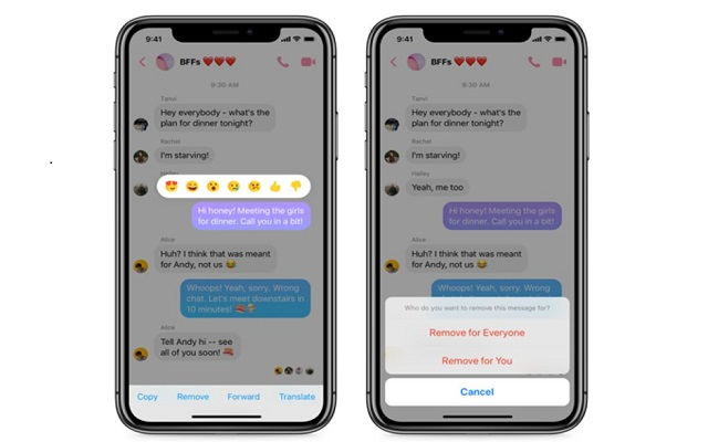 Facebook Messenger Unsend Message Option is Now Live