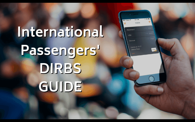 International Passengers DIRBS GUIDE