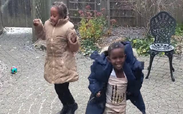 Refugee Children Dance Video in Snow Goes Viral on Internet