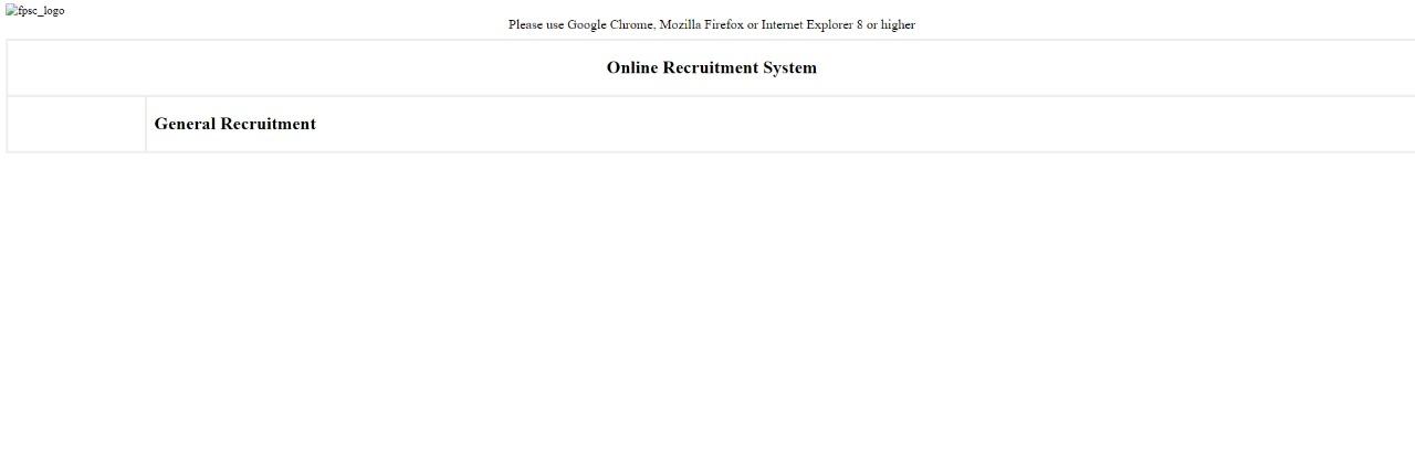 FPSC Website Stops Working