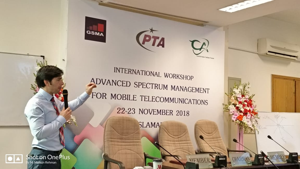 PTA, GSMA & CACF organized Workshop on Advanced Spectrum Management For Mobile Telecommunications