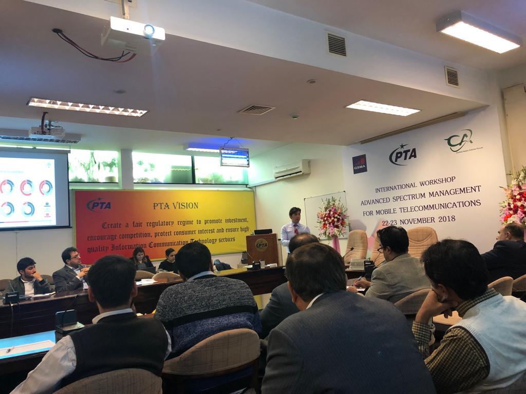PTA & GSMA Holds Workshop on Advanced Spectrum Management For Mobile Telecommunications