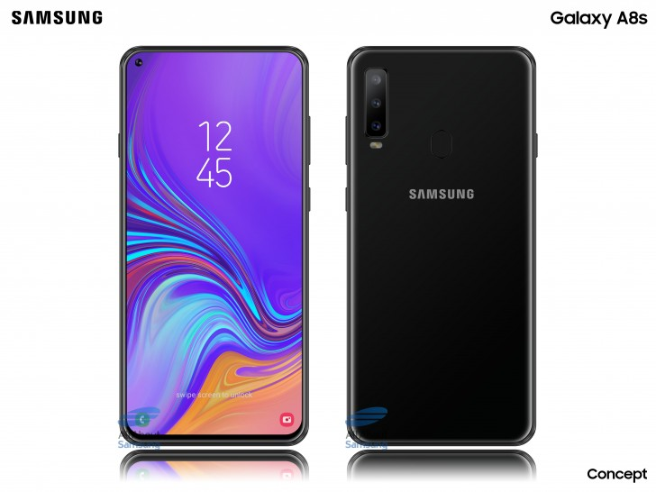 Samsung Galaxy A8s First Renders show Company's First Display with a Cutout
