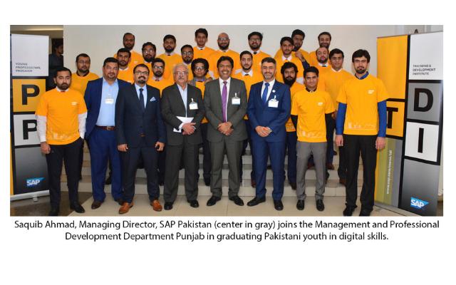 Management & Professional Development Department Punjab Applauds SAP on Pakistan's Youth Digital Job Creation