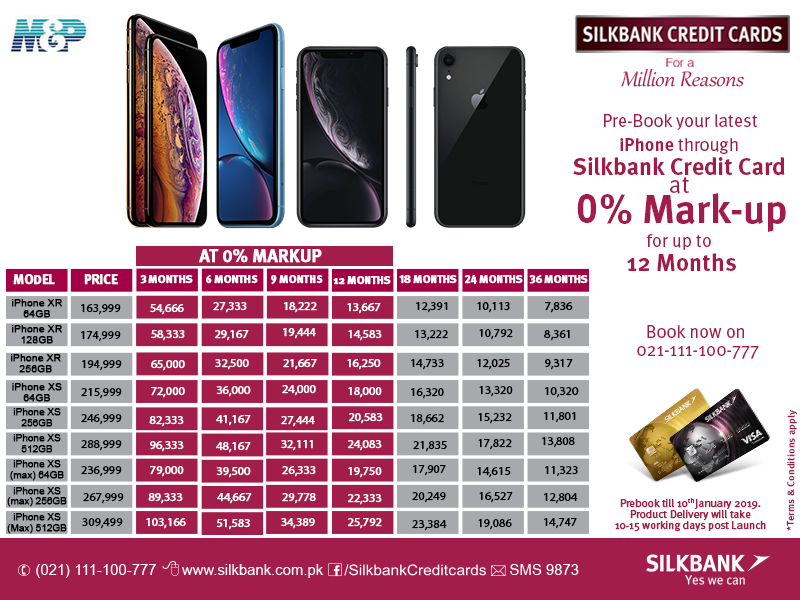 Silk Bank Offers Latest iPhones at 0% Markup