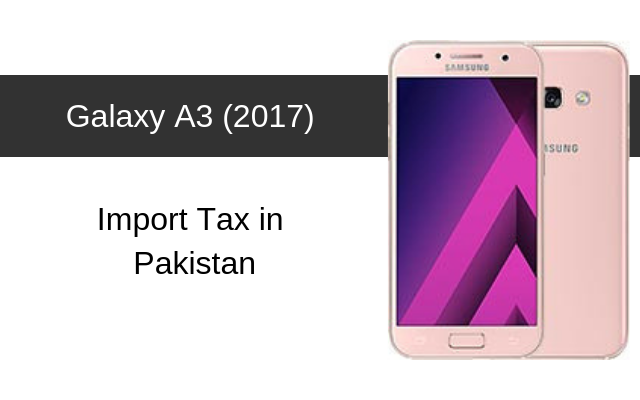 Samsung Galaxy A3 (2017) Tax