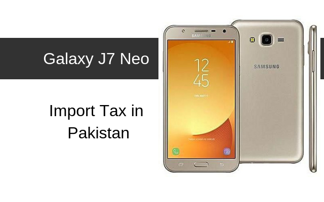 Galaxy J7 Neo Tax