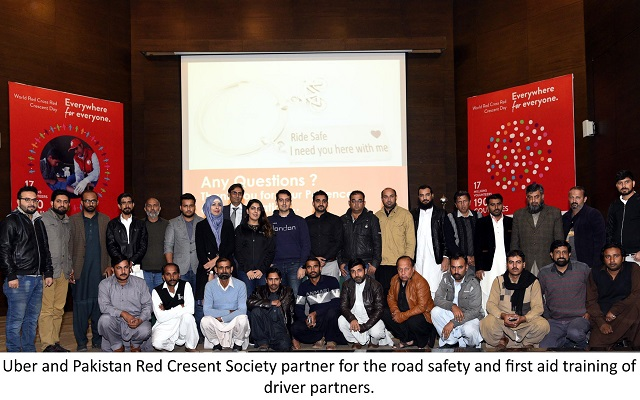 Uber Partners with Pakistan Red Crescent Society to Promote Safety