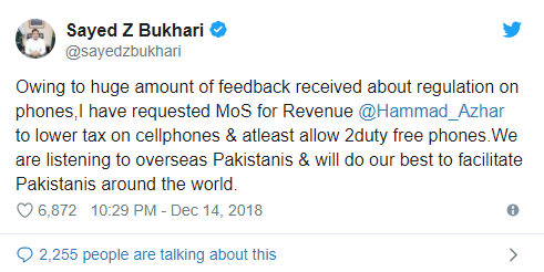 Overseas Pakistanis May Be Allowed To Bring More Than One Duty Free Phones In Near Future
