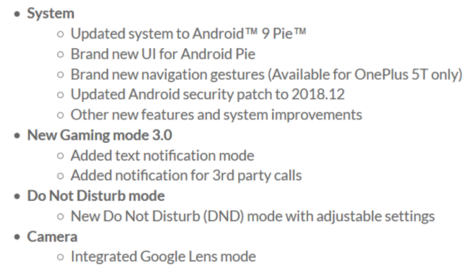 OnePlus 5 & 5T Android 9 Pie Based Update Is Rolling Out To Users