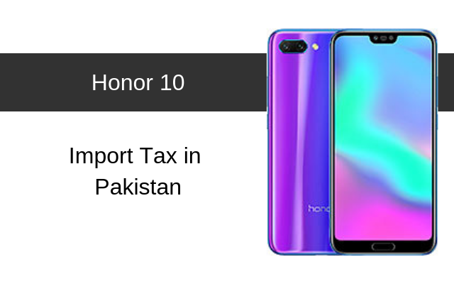 Honor 10 tax