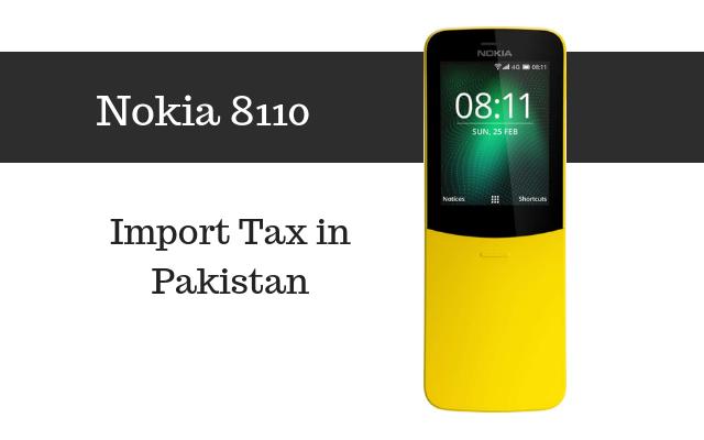 Nokia 8110 tax