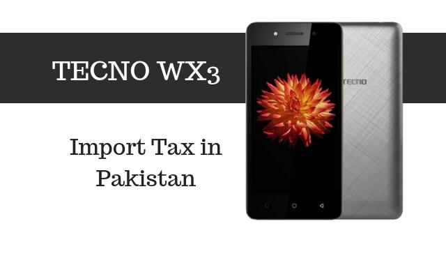 tecno wx3 tax