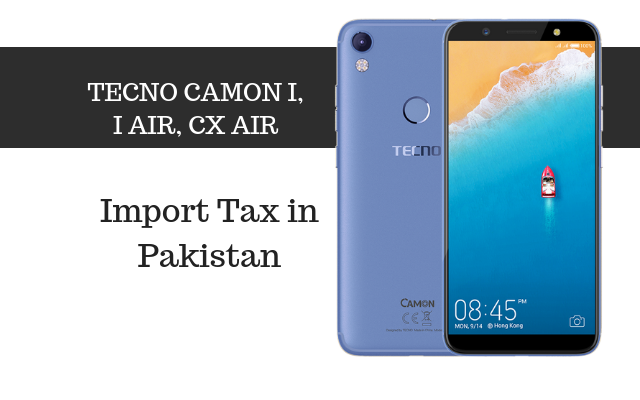 camon I, air and CX air tax
