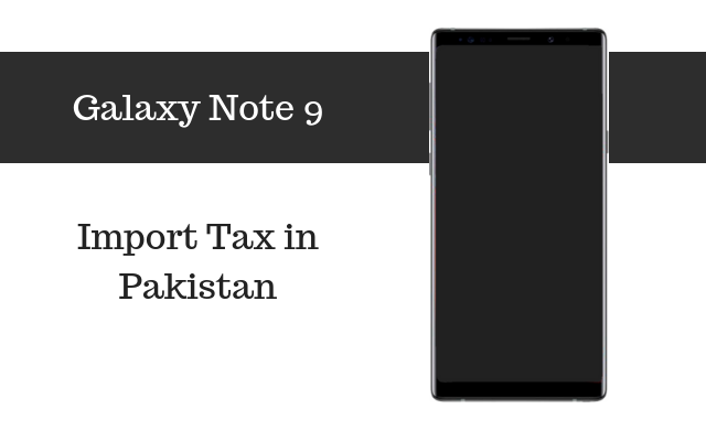 samsung galaxy note 9 tax