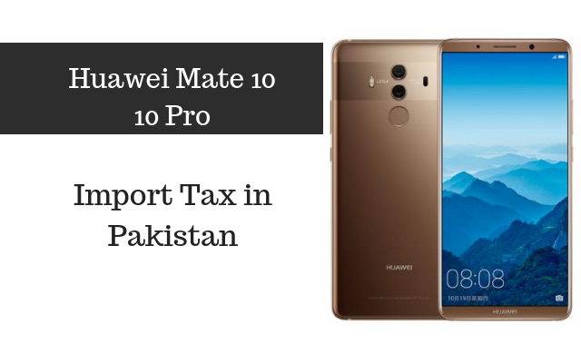 mate 10 pro tax