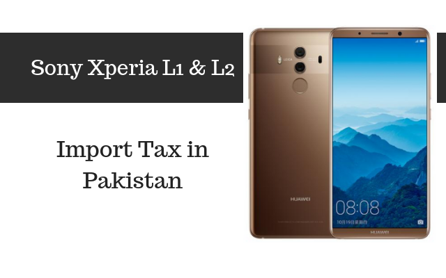 xperia l1 and l2 tax