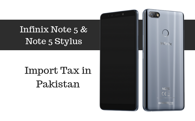 Infinix Note 5 tax