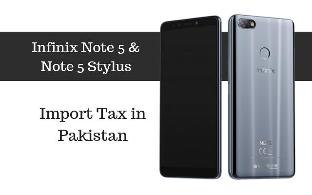 Infinix Note 5 tax