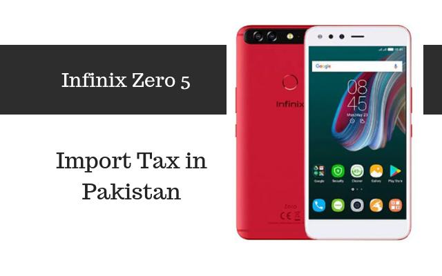 Infinix Zero 5 tax