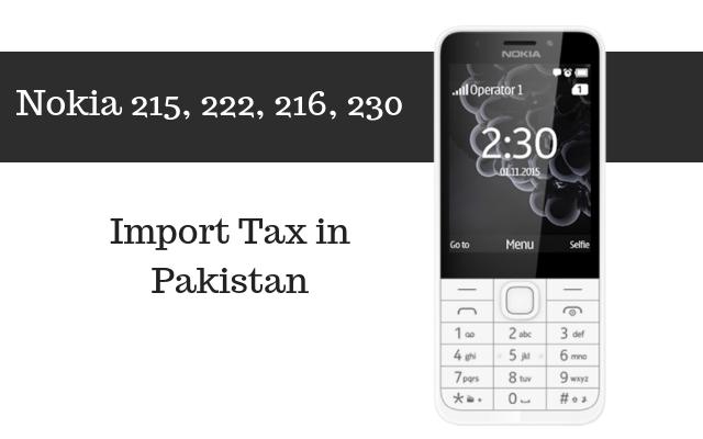 Nokia 215, 222, 216, 230 tax