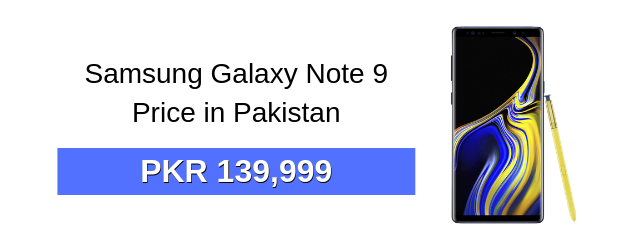 Samsung Galaxy Note 9 Price in Pakistan