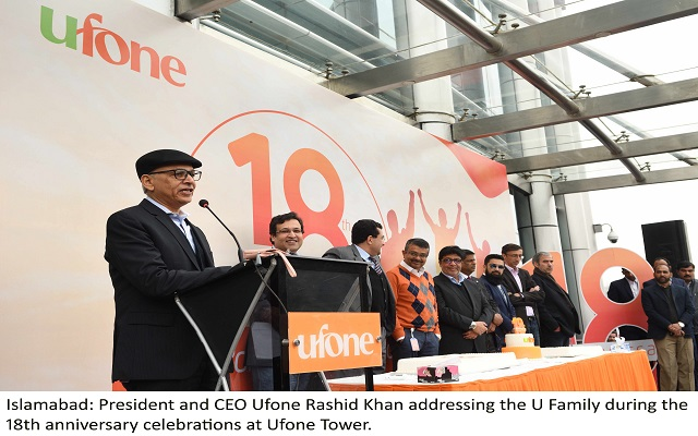Ufone Celebrates 18th anniversary