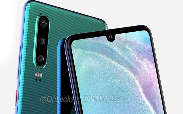 Huawei P30 Renders Show Triple Camera Setup & Headphone Jack