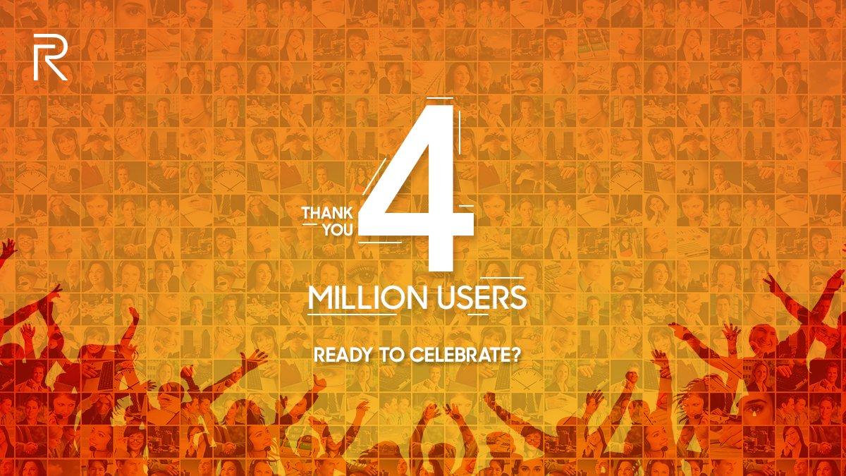 Realme Crossed 4 Million Users Pakistan