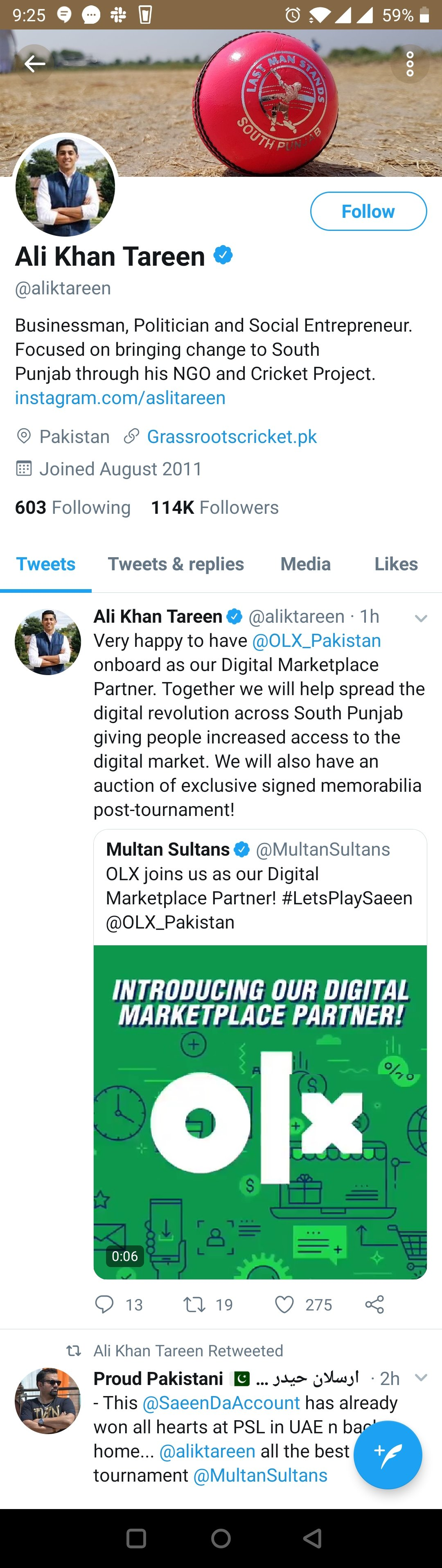 OLX & Multan Sultans Join Hand in HBL PSL
