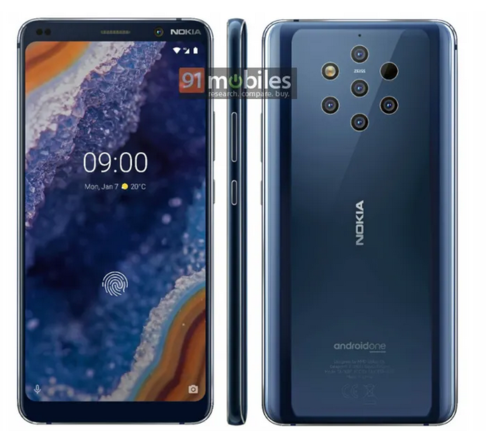 Nokia 9 PureView Official Render Offers A Closer Look To The Phone