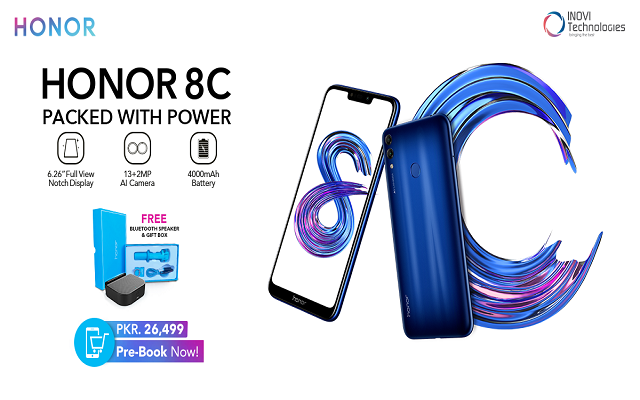THE Wait is Over Power Packed Honor 8C is Finally Available in Pakistan for Pre-Book