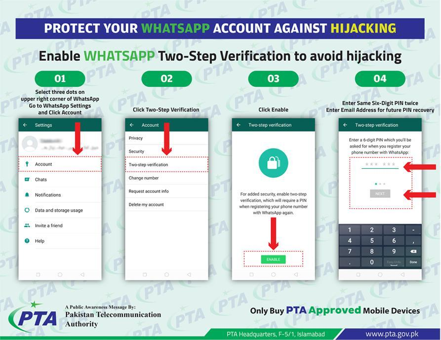 PTA Issues A Simplified Procedure To Protect WhatsApp Accounts Against Hijacking