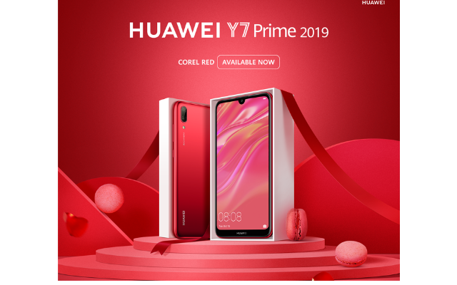 Huawei Showers its Love in Pakistan with a Coral Red Edition of HUAWEI Y7 Prime 2019