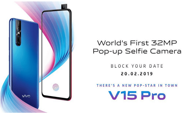 Vivo V15 Pro Teaser Shows 32MP Pop-up Front Camera