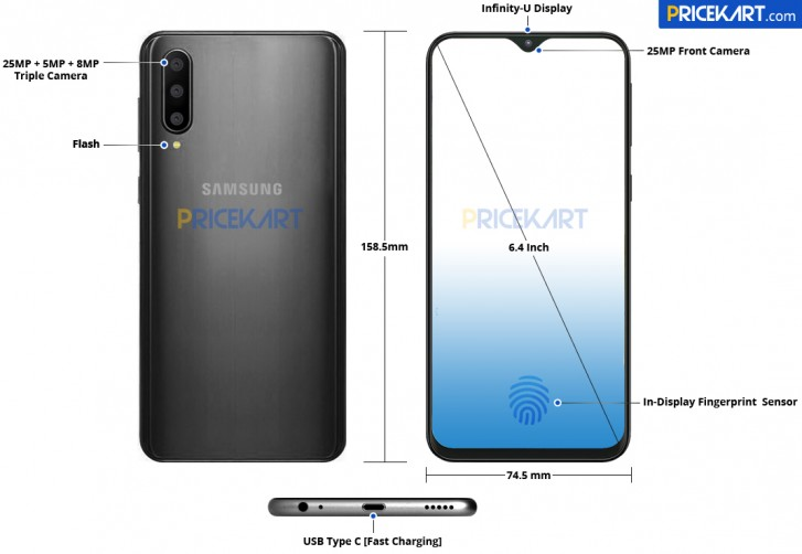Galaxy A50 Renders Offer A Close Look At Its Design & Layout