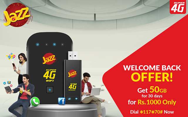 Reconnect Your Jazz Super 4G Wifi Device and Get 50GB in Just Rs