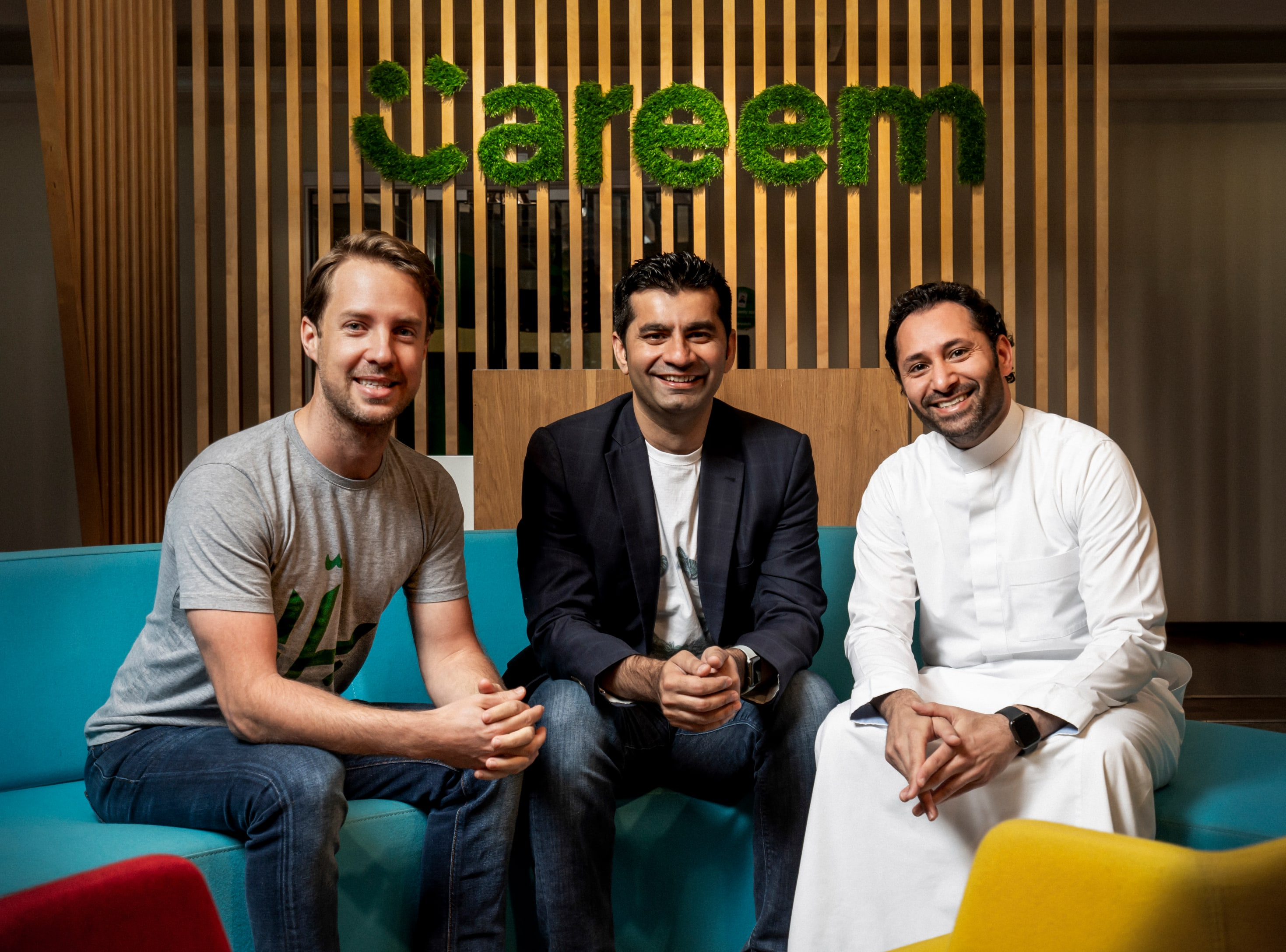 Careem co-founders Magnus Olsson, Mudassir Sheikha and Abdulla Elyas-min