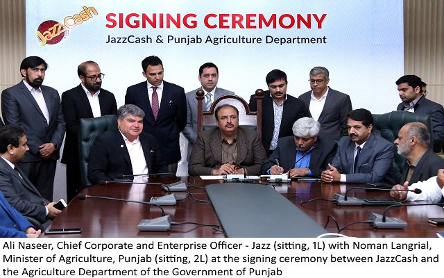 JazzCash Joins Hands with the Agriculture Department of Punjab