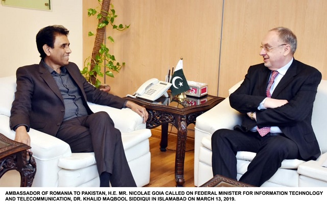 Ambassador Of Romania Called On Dr. Khalid Maqbool To Discuss Matters Of Mutual Interest