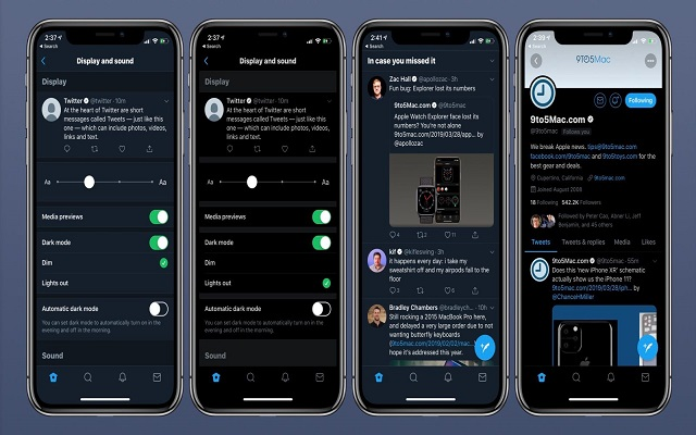 Twitter for iOS Gets Light Out Dark Mode