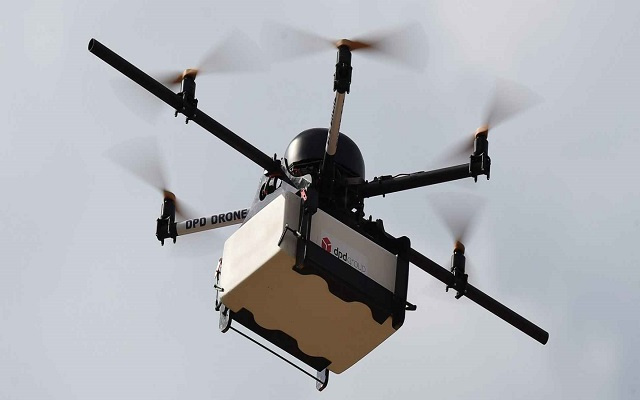 This drone will deliver Packages to Residents